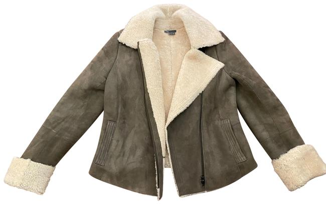 Item - Green Shearling Jacket Coat Size 4 (S)