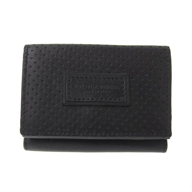 Item - Black Leather Compact Tri-fold 515385 Vq12c Wallet