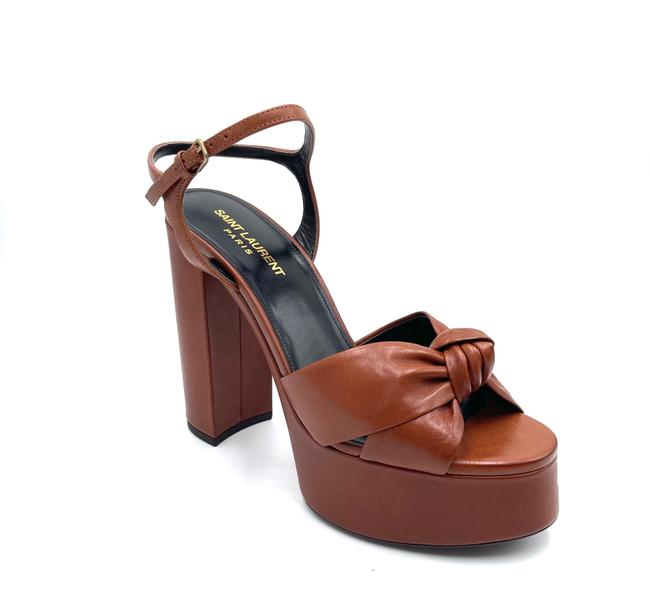 Item - Brown Bianca Sandals In Smooth Toffee Leather Platforms Size EU 38.5 (Approx. US 8.5) Narrow (Aa, N)