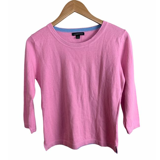 Item - Cotton Cashmere 3/4 Sleeve Small Pink Sweater
