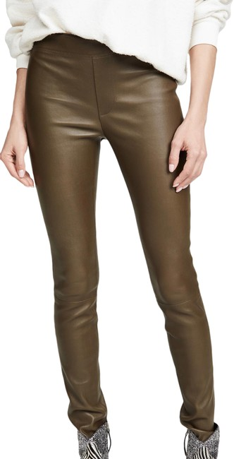 Item - Red Grey Olive Green Leather Leggings Size 4 (S, 27)