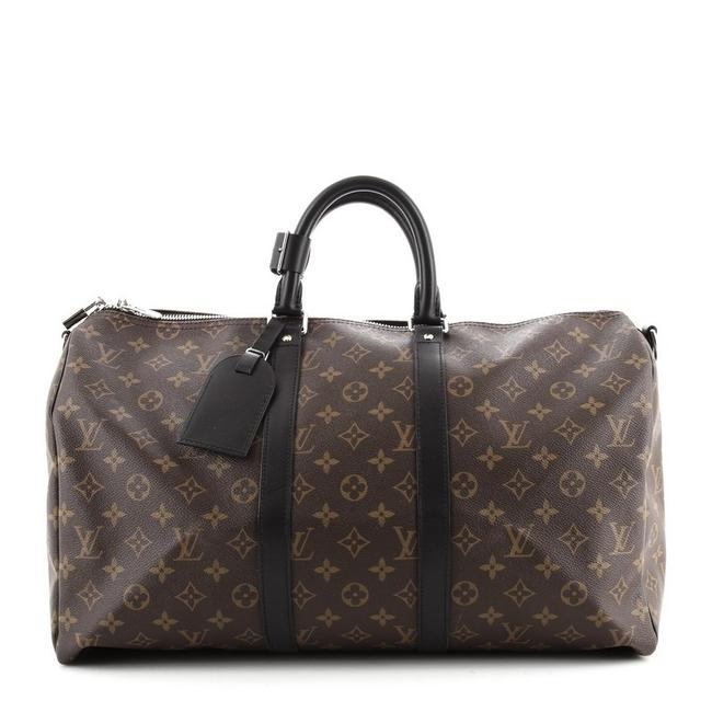 Item - Keepall Bandouliere Macassar Monogram 45 No Comment Haha Coated Canvas Weekend/Travel Bag