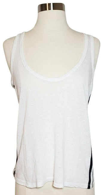 Item - White Linen Blend with Racerstripe Tank Top/Cami Size 0 (XS)