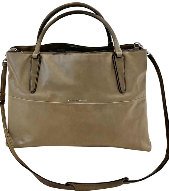 Item - Borough Large Soft In Napa Shoulder Strap Handle Olive Green Leather Satchel