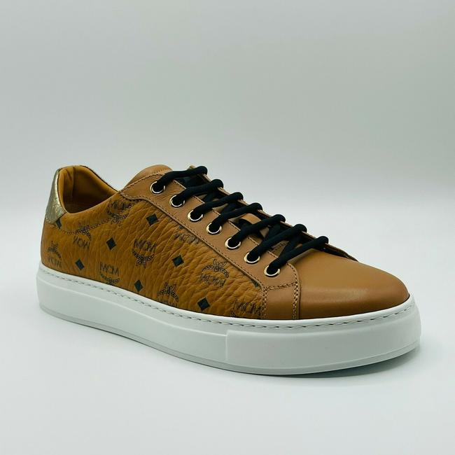 Item - Brown Visetos Coated Canvas Low-top Sneakers Eu 41/Us 8 Mexasmm10co Shoes