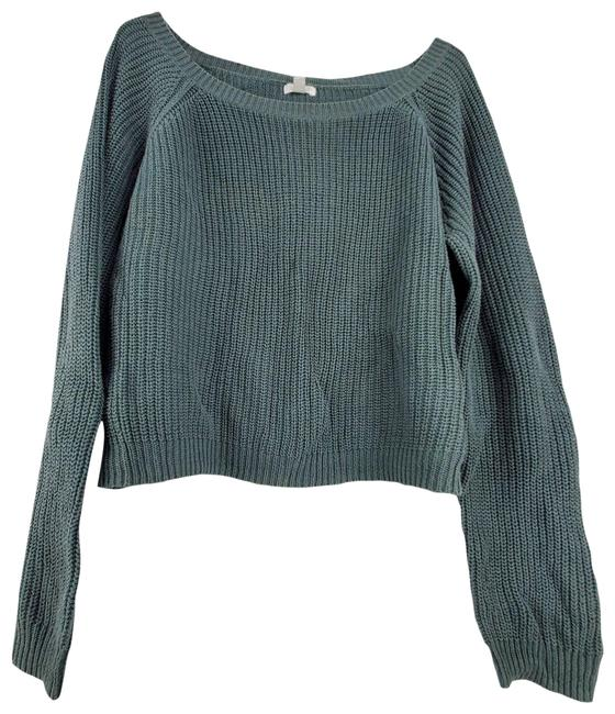Item - Bp Slouchy Long Sleeve Knit Green Sweater