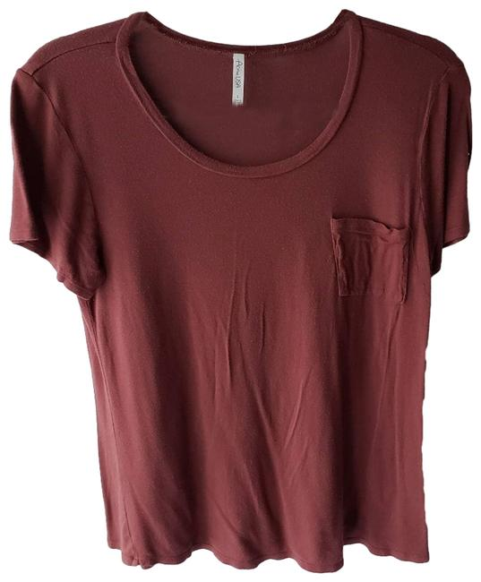 Item - Red L Scoop Neck Basic Sleeve Tee Shirt Size 12 (L)