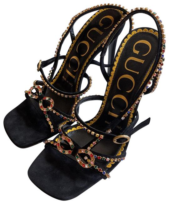Item - Black with Colored Crystals 603026c2000 Sandals Size EU 36 (Approx. US 6) Regular (M, B)