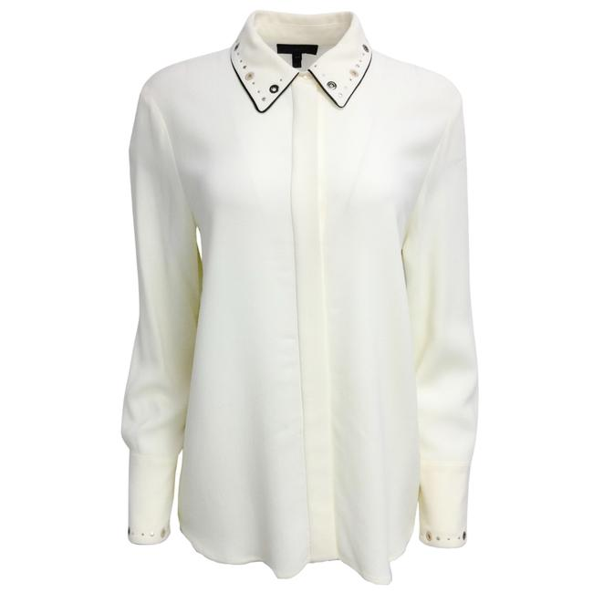 Item - Cream Mayim Crepe Button-down Top Size 8 (M)
