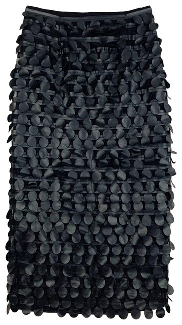 Item - Black Silk Leather Circle Cutout Skirt Size 0 (XS, 25)