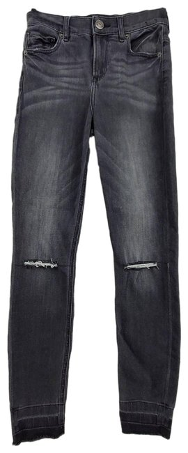 Item - Black Distressed High Rise Ankle Jeggings Size 25 (2, XS)