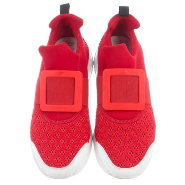 Item - Red Limited Edition Knit Low-top Sneakers Size EU 40 (Approx. US 10) Regular (M, B)