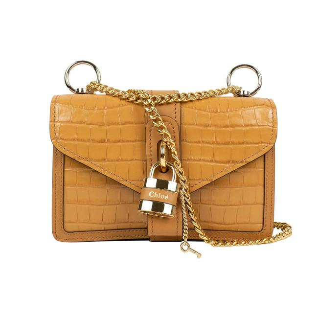 """Item - Autumnal Day"""" Grained Skin Chain Brown Leather Shoulder Bag"""