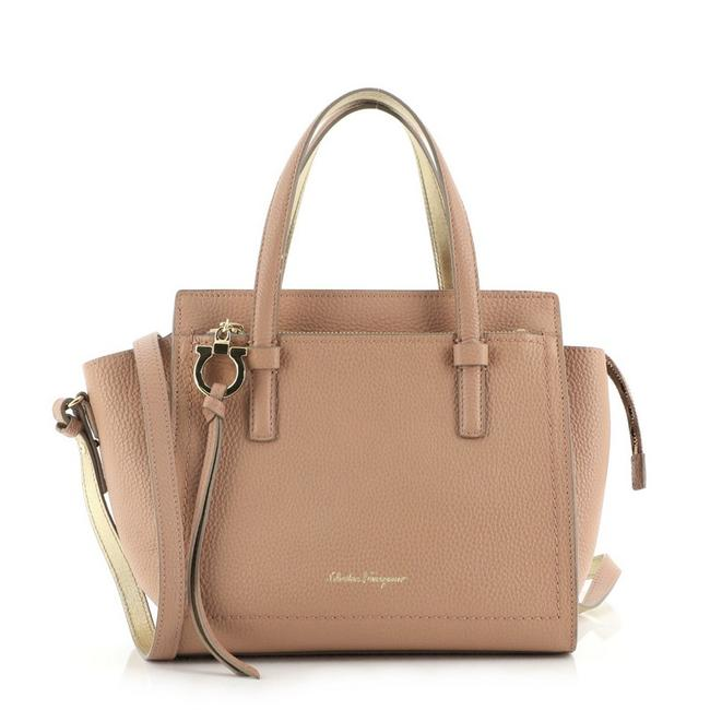 Item - Amy Pebbled Mini Pink Leather Tote