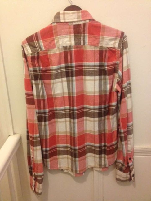 Abercrombie & Fitch Button Down Shirt Red Plaid