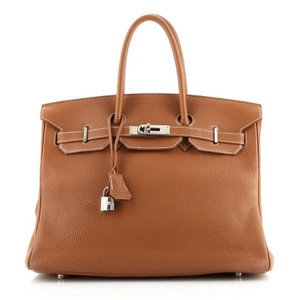 Hermès Leather Tote in Gold (Brown)