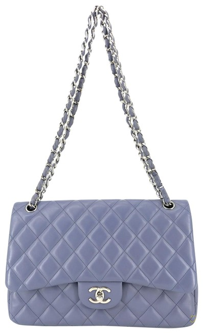 Item - Classic Flap Quilted Jumbo Double #34898 Purple Lambskin Leather Shoulder Bag
