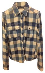 Abercrombie & Fitch Button Down Shirt Blue Plaid