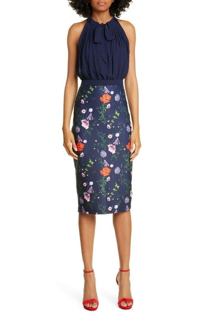 Ted Baker Shimma Bodycon In Hedgerow Print Mid-length Work/Office Dress Size 14 (L) Ted Baker Shimma Bodycon In Hedgerow Print Mid-length Work/Office Dress Size 14 (L) Image 1