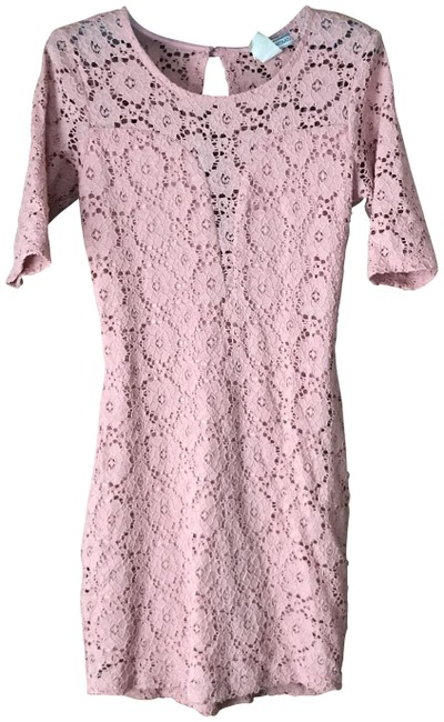 Item - Mauve Lace Illusion Short Night Out Dress Size 8 (M)