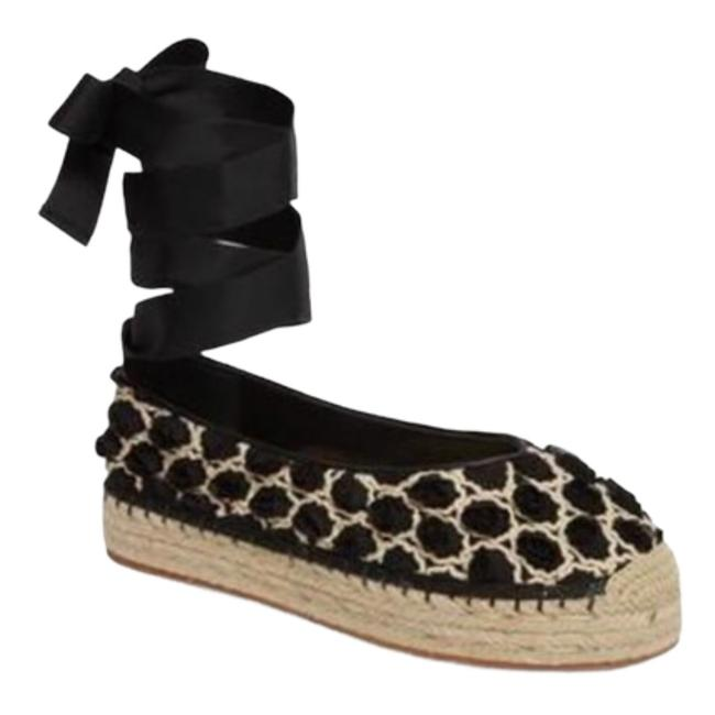 Item - Black Georgie Espadrille Flatts Platforms Size US 7.5 Regular (M, B)