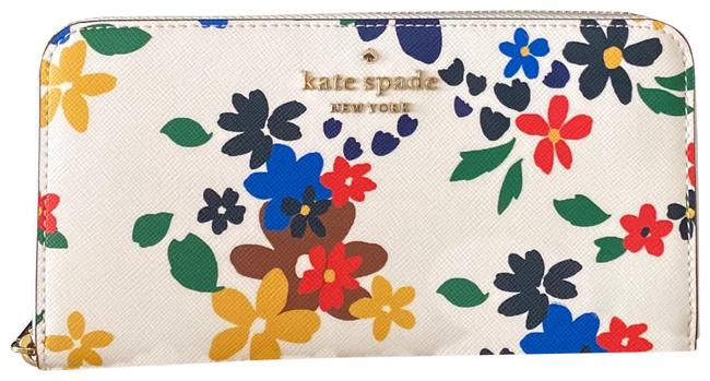 Item - Cream Multi Staci Sailing Floral Large Continental Wallet