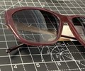 Burberry Bordeaux Red and Gold B4174 3402/8g 56mm Squared Cat Eye Sunglasses Burberry Bordeaux Red and Gold B4174 3402/8g 56mm Squared Cat Eye Sunglasses Image 5