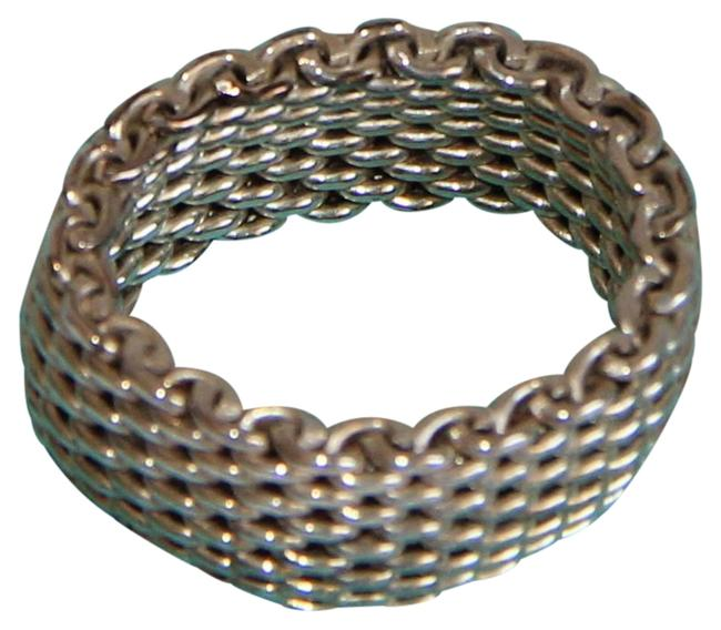 """Item - Silver And """"Somerset"""" Sterling Mesh Ring"""
