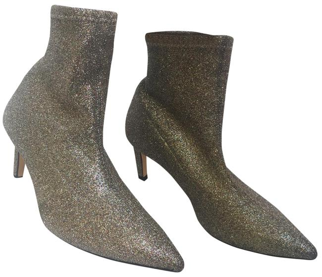 Item - Silver Shimmery High Heel Ankle Glitter Boots/Booties Size EU 35 (Approx. US 5) Regular (M, B)