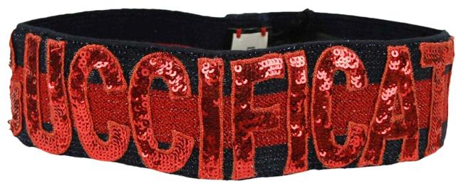 """Item - Blue/Red Sequin Patches """"fication"""" Headband S/56 499679 4174 Hair Accessory"""