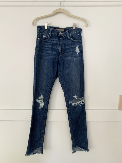 Item - Dark Wash Rinse Distressed Skinny Jeans Size 27 (4, S)