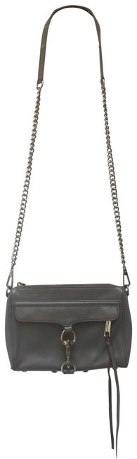 Item - Mac Grey Leather Cross Body Bag