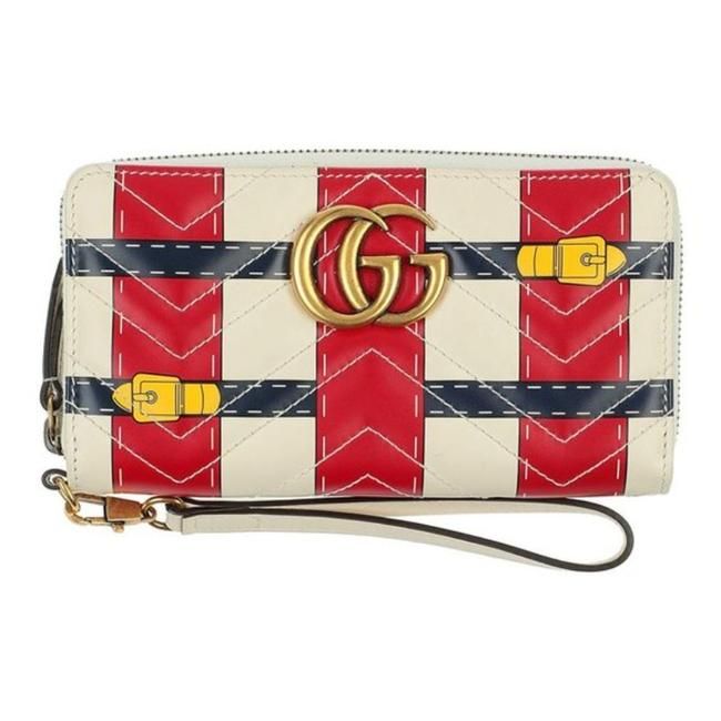 Item - Cream Red Limited Quilted Leather Wallet