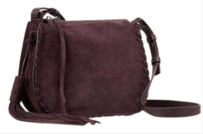 Item - Mori Tassel Burgundy Suede Leather Cross Body Bag