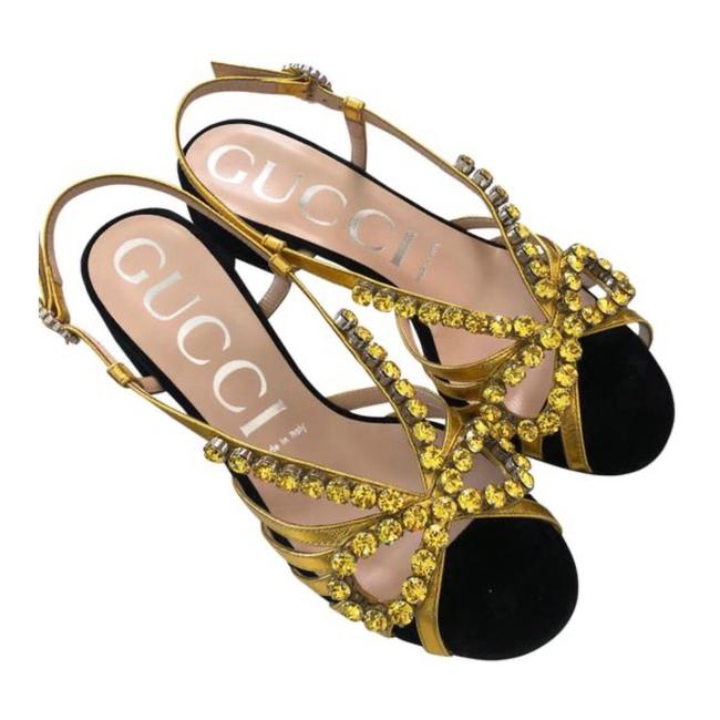 Item - With Crystals Sandals Size EU 37.5 (Approx. US 7.5) Regular (M, B)