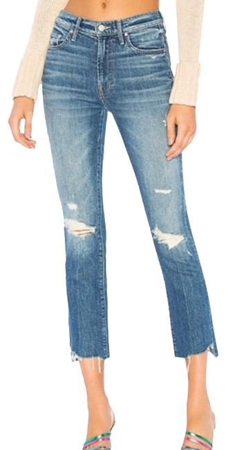 Item - Better When It's Wrong Medium Wash The Insider Crop Step Chew Straight Leg Jeans Size 00 (XXS, 24)