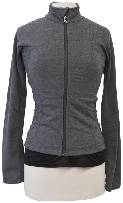 Item - Gray XS Zip-up Activewear Outerwear Size 2 (XS)