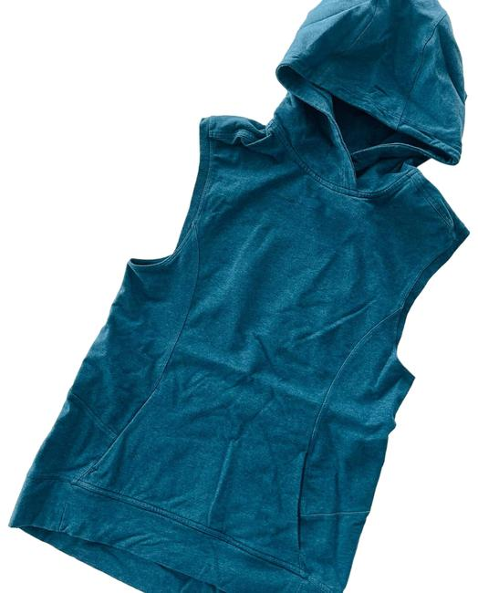 Item - Green Blissed Out Sleeveless Heathered Alberta Lake Teal Activewear Outerwear Size 6 (S)