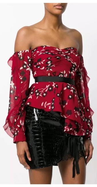 Item - Red and Black Blouse Size 10 (M)