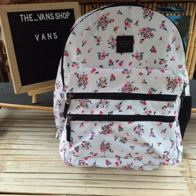 Item - White Pink Canvas Backpack