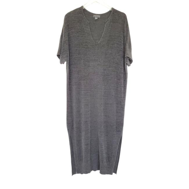 Item - Gray Cozy Chic Ultra Lite Kaftan Lounge Carbon Casual Maxi Dress Size OS (one size)