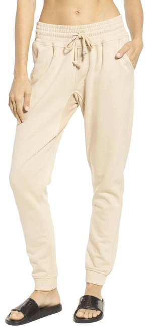 Item - Tan/ Peach XL Oversized Joggers Washed Sweatpants High Rise Activewear Bottoms Size 16 (XL, Plus 0x)