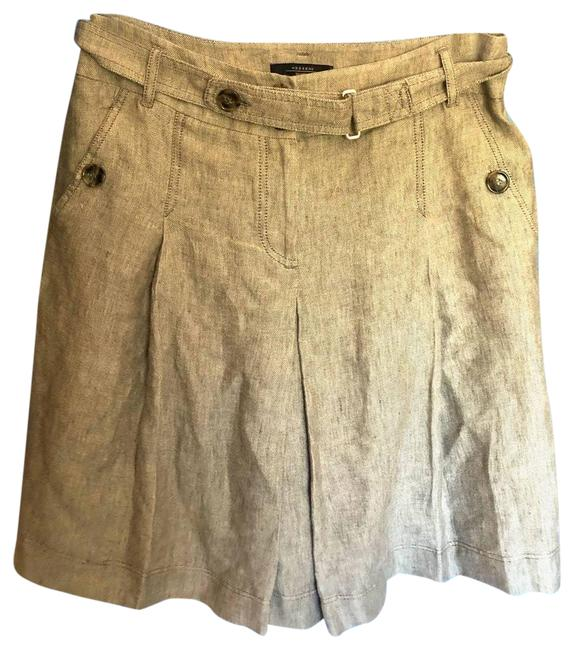 Item - Brown Weekend Pleated Nude Skirt Size OS (one size)