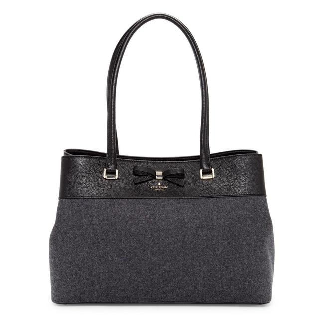 Item - Henderson Street Maryanne Black Gray Wool and Leather Satchel