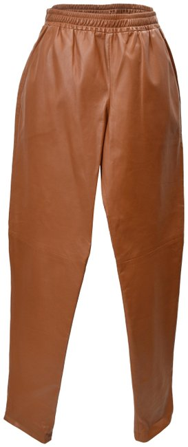 Item - Brown Leather Small Pants Size 4 (S, 27)