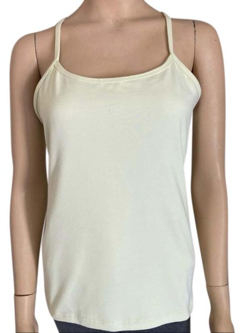 Item - Light Yellow Strappy Activewear Top Size 10 (M)