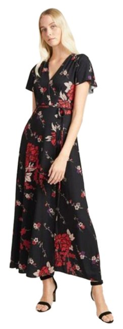 Item - Black Red Mid-length Casual Maxi Dress Size 8 (M)