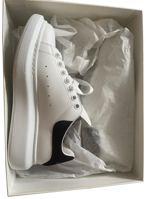 Item - White/Black Oversized Leather Platform Sneakers Size EU 38.5 (Approx. US 8.5) Regular (M, B)