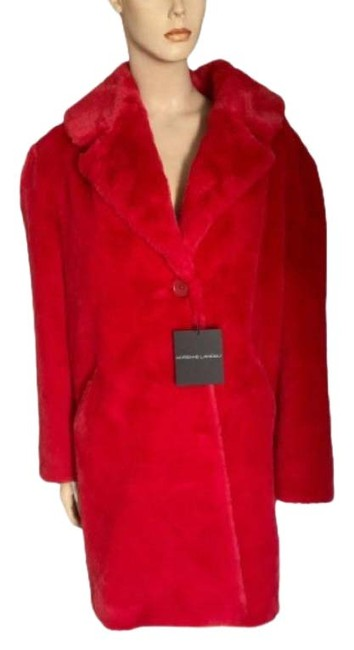 Item - Red Faux Coat Size 12 (L)