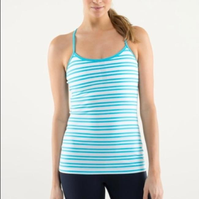 Item - Blue White Power Y Activewear Top Size 6 (S)